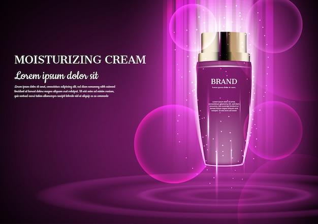Drijvende paarse crème