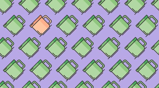 Drink naadloze patroon achtergrond vector