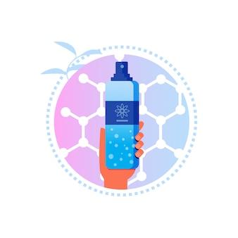 Droge shampoo met nanoformula voor haarverzorgingsetiket