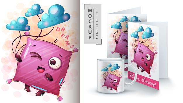 Dromen kussen poster en merchandising
