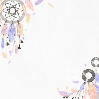 Dromenvanger grens. illustratie in boheemse stijl