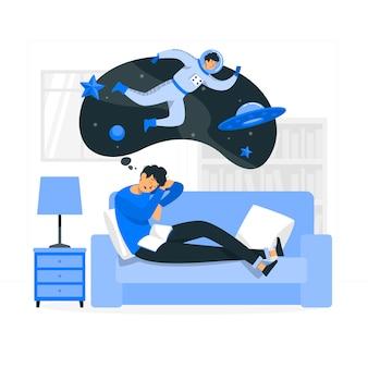 Dromer concept illustratie