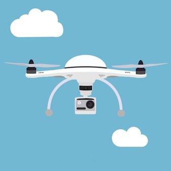 Drone achtergrond ontwerp