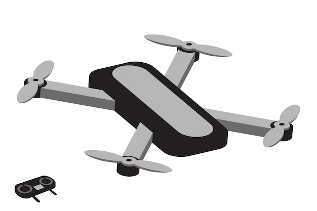 Drone illustratie quadcopter