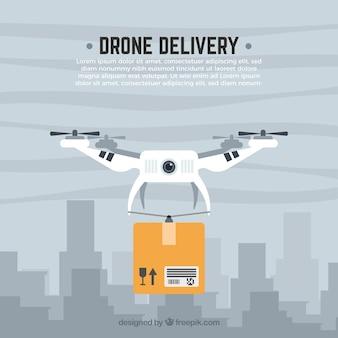 Drone levering en de stad
