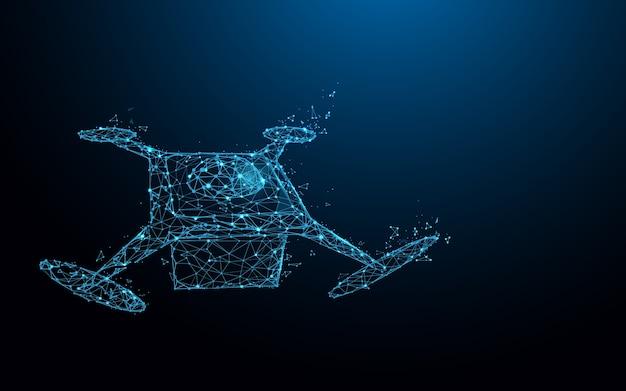 Drone levert vormlijnen en deeltjesontwerp