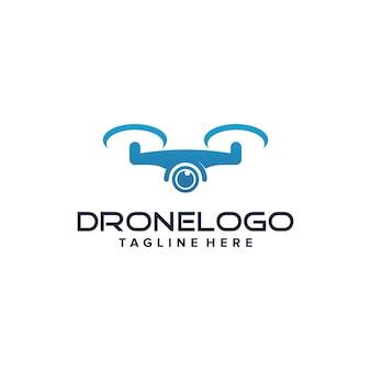 Drone logo ontwerpsjabloon