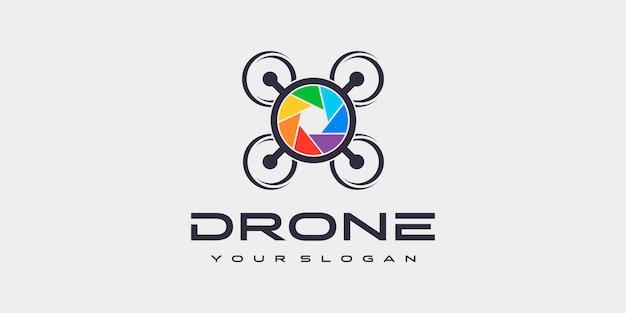 Drone logo sjabloon