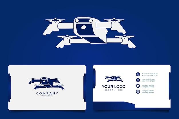 Drone mascotte logo afbeelding set