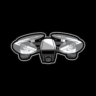 Drone mascotte logo ontwerp