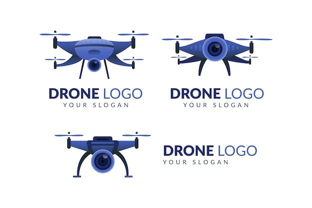 Drone met drone-logo met cameragradiënt