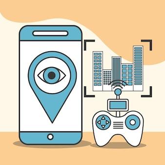 Drone-technologie smartphone-besturingsbeveiliging
