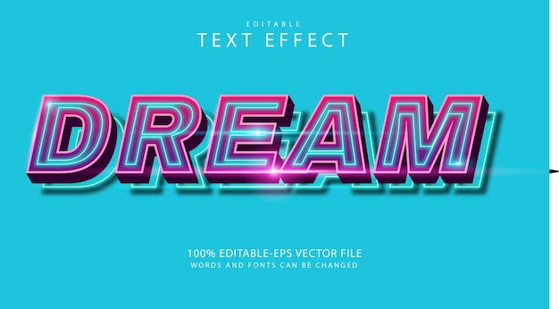 Droom teksteffect