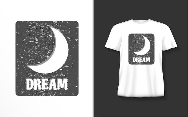Droom typografie tshirt