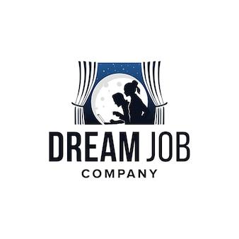 Droombaan bedrijfslogo inspiratie illustratie bedrijf