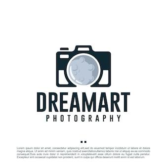 Droomkunst, camera, fotografie, logo-ontwerpsjabloon