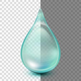 Drop geïsoleerd op transparante achtergrond.