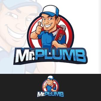 Drop plumb sanitair mascotte logo