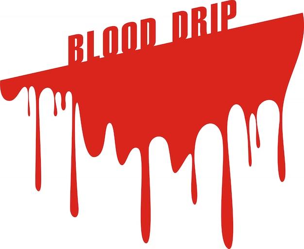 Druipend bloed dat op wit wordt geïsoleerd