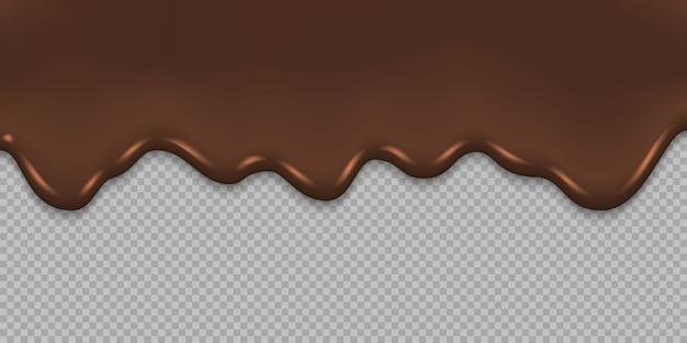 Druipende gesmolten chocolade achtergrond