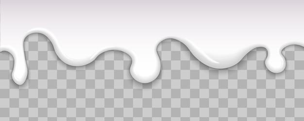 Druipende witte melk, room. vloeibare romige witte textuur