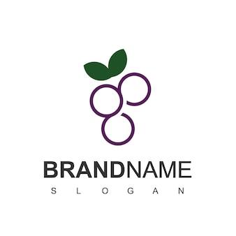 Druiven fruit logo ontwerp vector