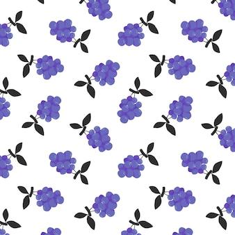 Druiven naadloze patroon achtergrond
