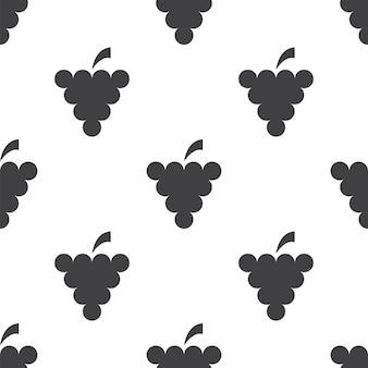 Druiven, vector naadloos patroon, bewerkbaar kan worden gebruikt voor webpagina-achtergronden, opvulpatronen
