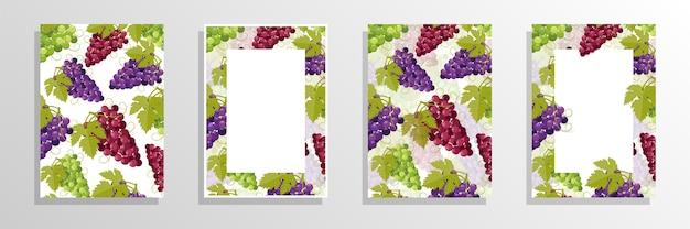 Druiven wine cover concept illustratie
