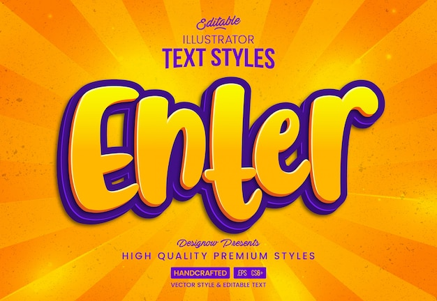Druk op enter game text style