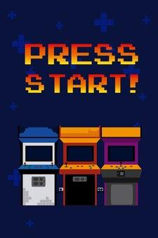 Druk op start arcades
