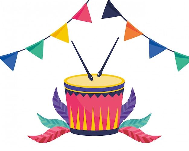 Drum muziekinstrumenten vector illustratie
