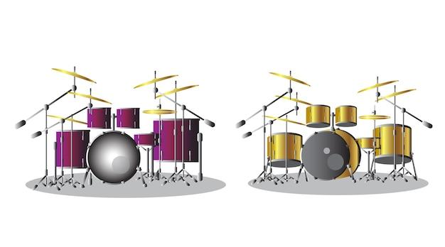 Drumstel drumset symbool