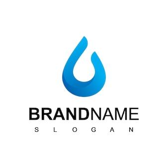 Druppel water logo sjabloon