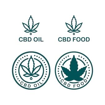 Druppelfles vector gele en groene lijn kunst symbolen op witte achtergrond voor commerciële zakelijke medische cannabis gezondheidsdiensten website