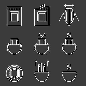 Druppelkoffiezak voor eenvoudig koffiezetten in een kopje instructies voor het maken van druppelmethode voor verse koffiedrank