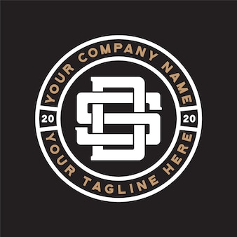 Ds monogram logo vintage