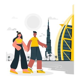 Dubai concept illustratie