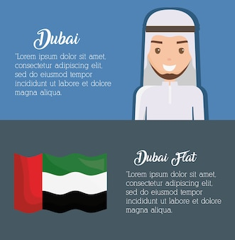Dubai infographic reizen