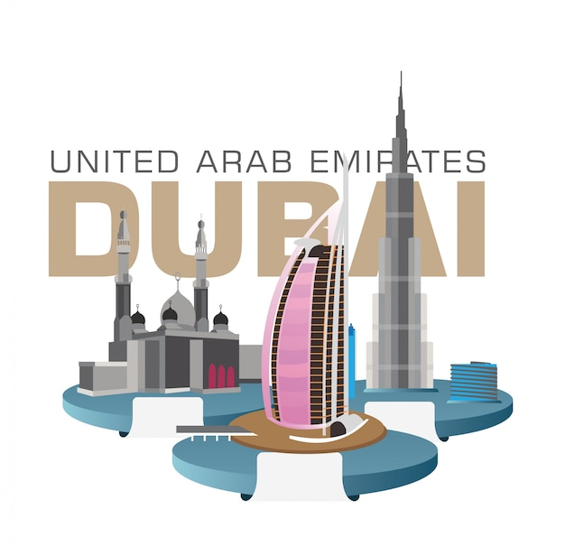 Dubai verenigde arabische emiraten dubai-gebouwen burj khalifa, burdzs al-arab