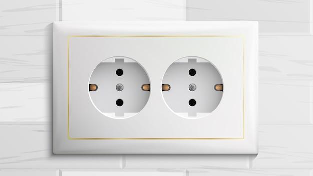 Dubbel geaard stopcontact