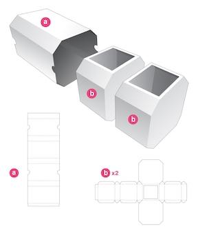Dubbele achthoekige doos met gestanste omslagmal