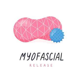 Dubbele bal voor nekmassage en triggerpointbal voor myofascial release yoga pilates