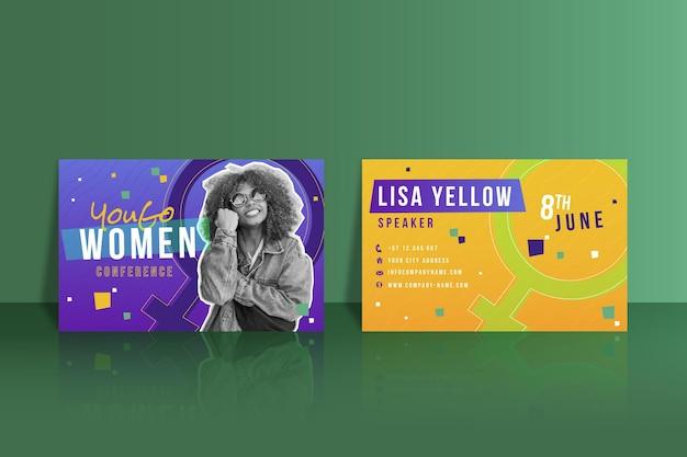 Dubbelzijdig visitekaartje met kleurovergang