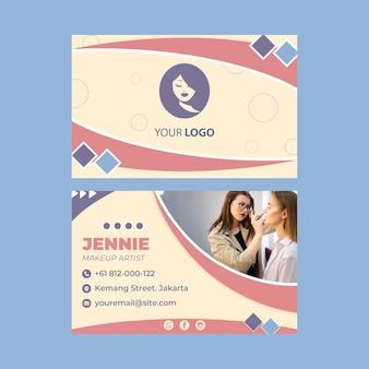 Dubbelzijdig visitekaartje van de salon van de schoonheid
