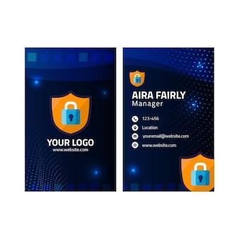 Dubbelzijdig visitekaartje voor cyberveiligheid