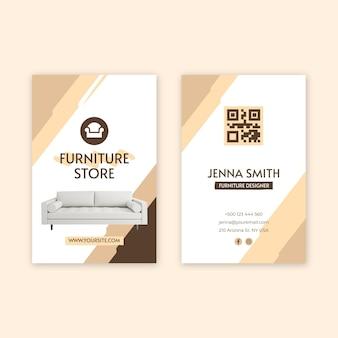 Dubbelzijdig visitekaartje voor plat meubilair