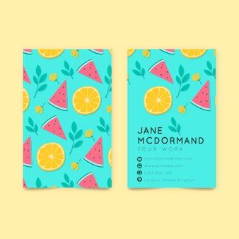 Dubbelzijdige visitekaartjesjabloon met citrus