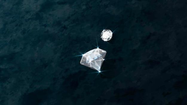 Duidelijke kristal diamant ontwerp vector