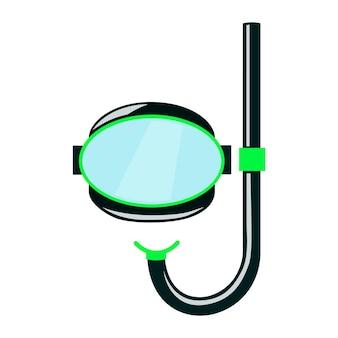 Duikmasker om te snorkelen afbeelding in cartoonstijl op een witte achtergrond vectorillustratie
